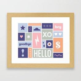 Pastel Pop Framed Art Print