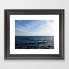 Mediterranean Sea on the Côte d'Azur French Rivera Framed Art Print