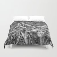 coyote Duvet Covers featuring Coyote by Patrick Entenmann