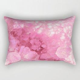 Sweet Pink Crystals Rectangular Pillow