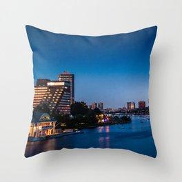 skyline of Boston Throw Pillow