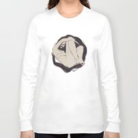 hexagon Long Sleeve T-shirts featuring My Simple Figures: The Circle by Anton Marrast