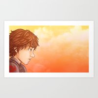 hiccup Art Prints featuring Hiccup by MaliceZ