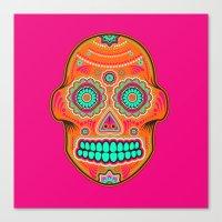 sugar skull Canvas Prints featuring Sugar Skull by Good Sense