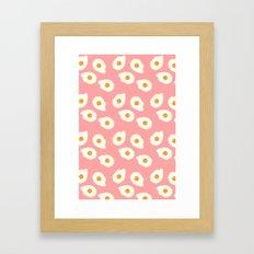 Egg Pattern Framed Art Print