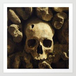 Skull From Catacombs in Paris Art Print
