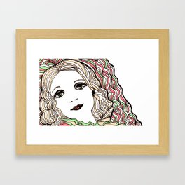 Daisy in Love Framed Art Print