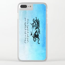 Anais Nin - Great Fear of Shallow Living Clear iPhone Case