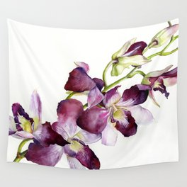 Radiant Orchids: Magenta Dendrobiums Wall Tapestry
