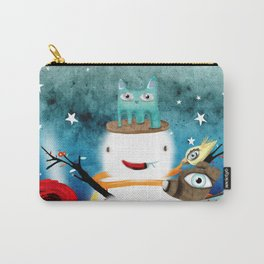 Aurora Australis Christmas Whimsical Stars Carry-All Pouch