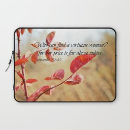 Virtuous Woman Proverbs Laptop Sleeve