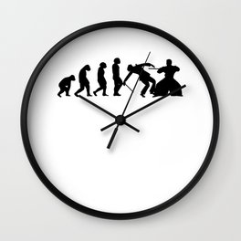 Battojutsu Iaido Ninjutsu Ju-Jutsu Kendo Evolution Kenjutsu Wall Clock