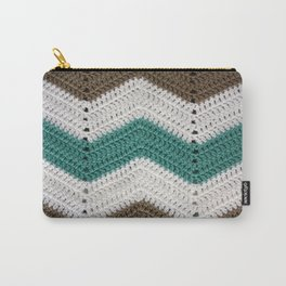 Diagonal Crochet Throw Carry-All Pouch