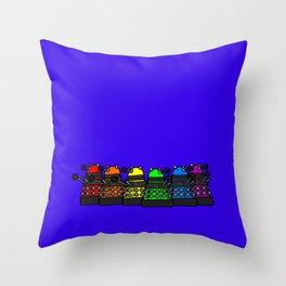 Dalek Pride! Throw Pillow