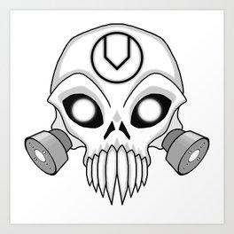 Chaos Skull Art Print