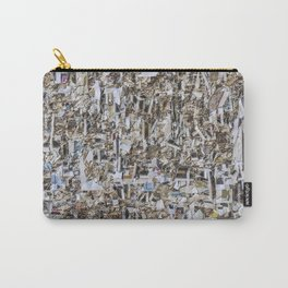 Texture of paper shredded wall Carry-All Pouch