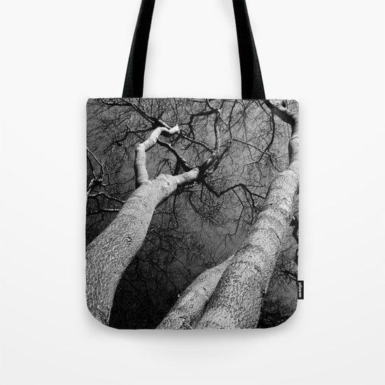 Monochrome Trees Tote Bag