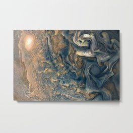 Surface of Jupiter Atmosphere Telescopic Photograph Metal Print