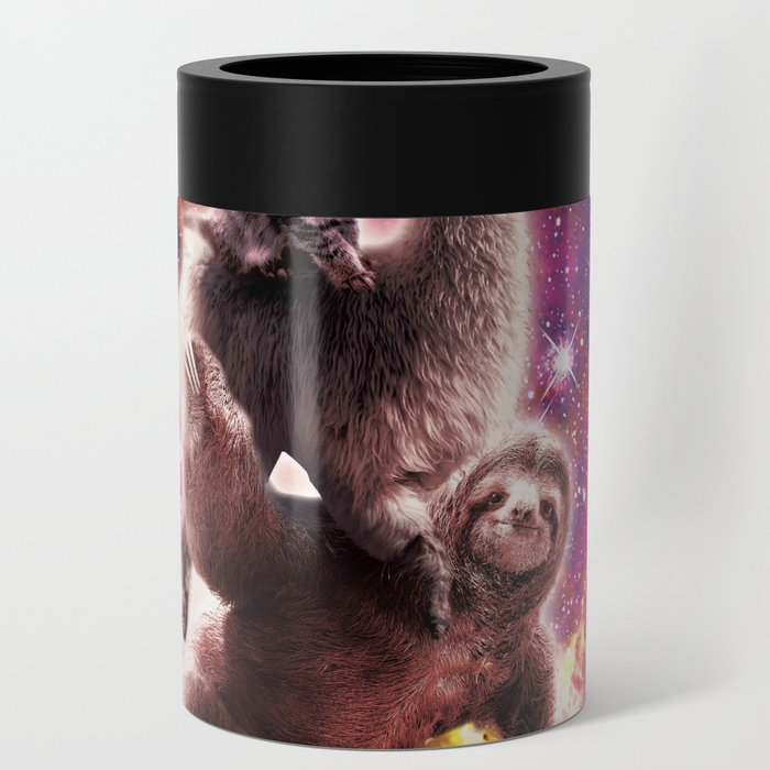 Space Cat Llama Sloth Riding Taco Can Cooler