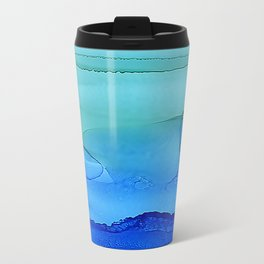 Alcohol Ink Seascape Travel Mug