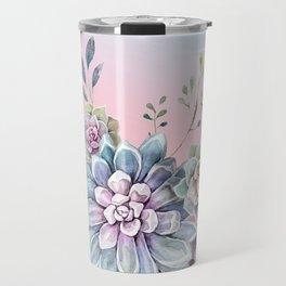 Succulent full moon Travel Mug