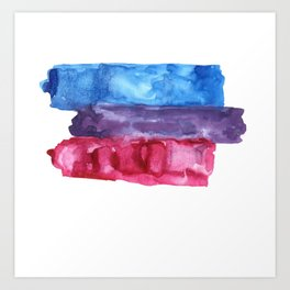 bisexual watercolor flag Art Print
