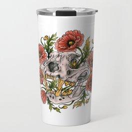 Skull and poppys Travel Mug