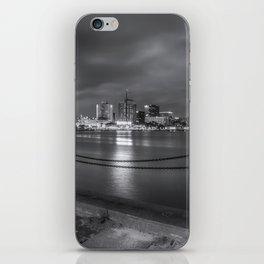 Norfolk Skyline II in Black and White iPhone Skin