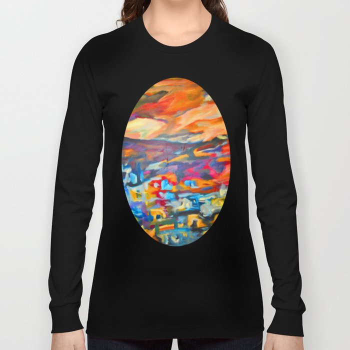 My Village | Colorful Small Mountainy Village Long Sleeve T-shirt