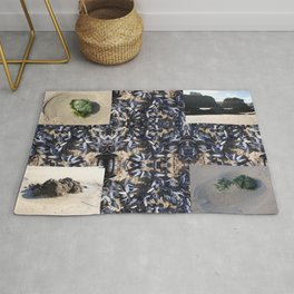 Cornwall Mussels and other Low Tide Beach Photo Composite Newquay Cornwall Rug