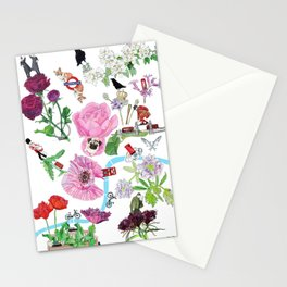 London in Bloom - Flowers and transportation that make London Stationery Cards
