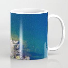 ocean rock green blue Coffee Mug
