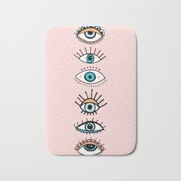 eye illustration print Bath Mat