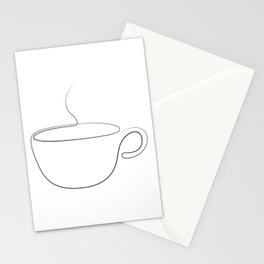 coffee or tea cup - line art Stationery Cards