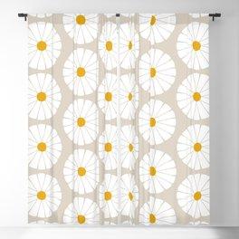 Minimal Botanical Pattern - Daisies Blackout Curtain