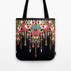 Modern Deco in Red and Black Tote Bag