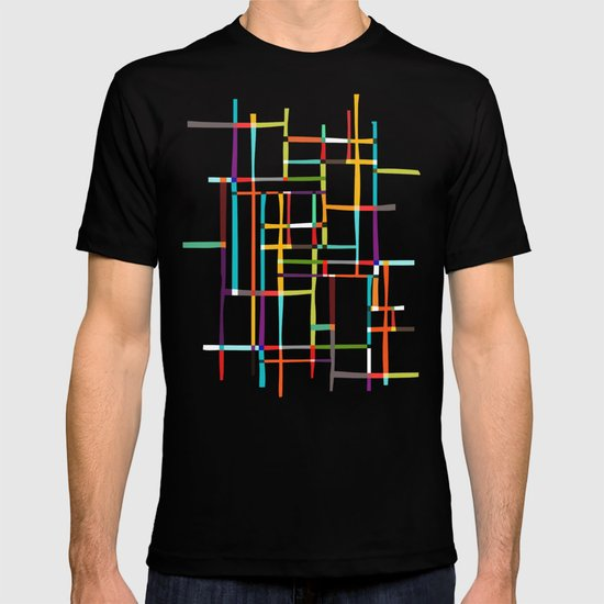 The map (after Mondrian) T-shirt