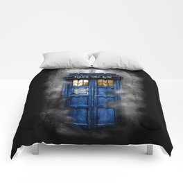 Haunted Halloween Blue phone Box iPhone 4 4s 5 5c 6, pillow case, mugs and tshirt Comforters