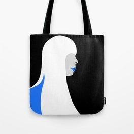 Joni Mitchell portrait (blue) Tote Bag