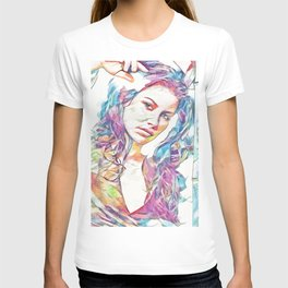 Evangeline Lilly (Creative Illustration Art) T-shirt