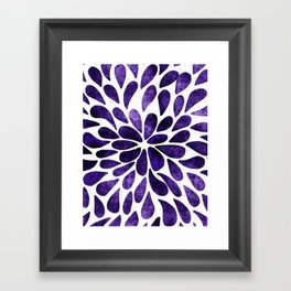 Petal Burst Ultra Violet Framed Art Print
