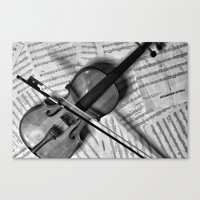 violin Canvas Prints featuring Violin by WHIT MORE