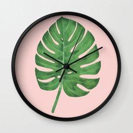 SWISS CHEESE PLANT 06, by Frank-Joseph Wall Clock