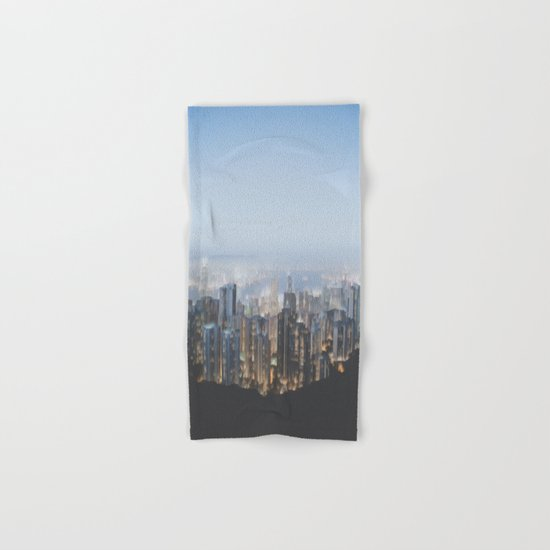Hong Kong (Pixel Sorted) Hand & Bath Towel