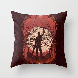 Ash Graves Throw Pillow