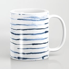 Electric Ink Navy Stripes Coffee Mug