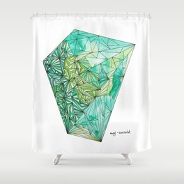 BIRTHSTONES - MAY / EMERALD Shower Curtain
