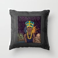 "lebron Throw Pillows featuring ""Neffortlessly"" by SaintCastro"