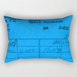 Library Card 797 Blue Rectangular Pillow