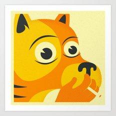 SMOKING DOG Art Print